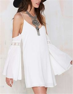 Nzsale - White Long Sleeve Dress