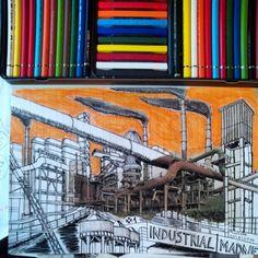 Industrial Madness #1 finalizado #drawing #pencildrawing #artwork #arte #art #sketch #sketchers #industrialheritage #industrialmadness #industriekultur #patrimonioindustrial #mislocurasindustriales