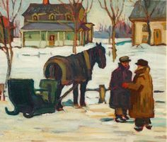 Winter - Berthierville, Quebec by Kathleen Morris