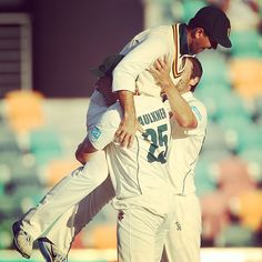 Ricky Ponting celebrates his first #BupaSS title win with James Faulkner