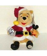 1/2 off! Disney Winnie the Pooh Santa Claus Bean Bag Plush NWT - $4.00