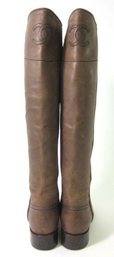 chanel riding boots - Click image to find more Women's Fashion Pinterest pins