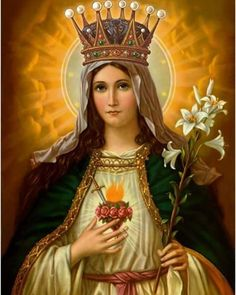 """""""This is why the blessed Virgin is called powerful - No one has access to the Almighty as His Mother has; none has merit such as hers. Her Son will deny her nothing that she asks; and herein lies her power. While she defends the Church, neither height nor depth, neither men nor evil spirits, neither great monarchs, nor craft of man, nor popular violence, can avail to harm us; for human life is short, but Mary reigns above, a Queen forever."""" -Blessed John Henry Newman~ 💕  #catholic…"""