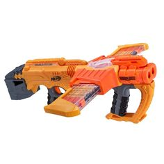 Fight for justice in a doomed world with Nerf Doomlands launchers. With powerful blasters like the Nerf Lawbringer, become the most feared soldier on the battefield. Strengthen your gear with Nerf Vortex blasters, too! Pistola Nerf, Cool Nerf Guns, Nerf Toys, Bon Point, Nerf Party, War Machine, Darts, Action Figures, Bel Air