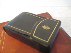 Vintage Navy Blue Italian Leather Cigarette by WalkingThruRoses, $19.00