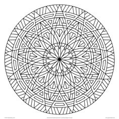 images of printable hard  geometric coloring pages | Geometrip.com - Free Geometric Coloring Designs - Circles