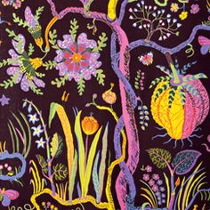 Josef Frank found inspiration for the Hawai print at the Metropolitan Museum of Art. Hawai was designed during 1943 – - Textile Hawai, Linen Hawai, White, Josef Frank Textiles, Textile Patterns, Textile Design, Fabric Design, Print Patterns, Textile Art, Color Patterns, Josef Franck, Pattern Art