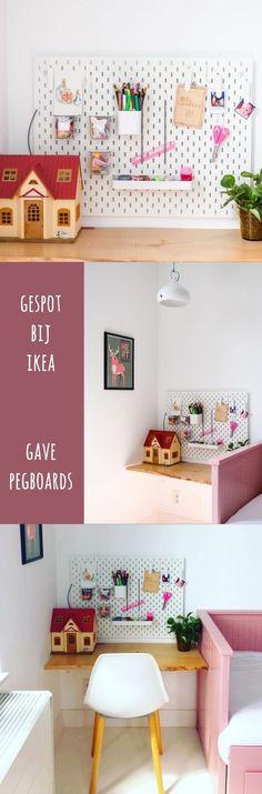 Gespot bij Ikea: gave pegboards – Leuk met kids - Kamer E - Ikea Hacks, Ikea Malm Series, Ikea Dresser Hack, Ikea Bedroom, Kids Corner, Ikea Furniture, Kidsroom, Interior Inspiration, Home And Family