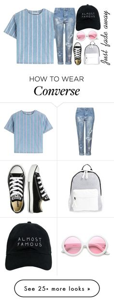 """""""Quickly Going Away"""" by safetyrepublic on Polyvore featuring T By Alexander Wang, Topshop, Nasaseasons, Converse, Poverty Flats and ZeroUV"""
