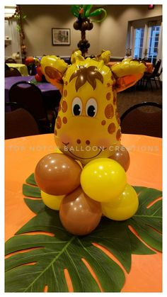 46 Ideas For Baby Animals Shower Center Pieces Safari Theme Birthday, Baby Boy 1st Birthday Party, Safari Birthday Party, Jungle Party, Baby Shower Giraffe, Baby Shower Fun, Baby Shower Themes, Baby Showers, Safari Centerpieces
