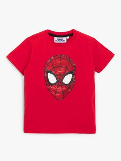 Buy John Lewis & Partners Spider-Man Short Sleeve T-Shirt, Red from our Boys' Shirts & Tops range at John Lewis & Partners. Sticky Web, Marvel Kids, Boys Shirts, John Lewis, Spiderman, Red, Sleeves, Fabric, Swings