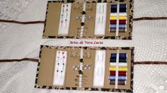 Caixinhas de costura em cartonagem, ideal para levar na bolsa..