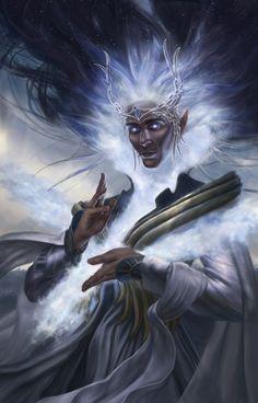 King Manwë, of the world and the Breath of Arda!, DYMOND STARR AUSTIN on ArtStation at https://www.artstation.com/artwork/bD5LG
