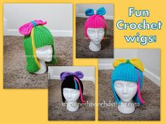 Posh Pooch Designs Dog Clothes: Fun Wig Free Crochet Pattern - Would make cute chemo hats for cancer patients.