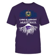 Kansas State Wildcats - Living Roots Vermont T-Shirt, TIP: If you buy 2 or more (hint: make a gift for someone or team up) you'll save quite a lot on shipping.  Click the GREEN BUTTON, select your size and style.  The Kansas State Wildcats Collection, OFFICIAL MERCHANDISE  Available Products:          Gildan Unisex T-Shirt - $24.95 Gildan Women's T-Shirt - $26.95 District Men's Premium T-Shirt - $27.95 District Women's Premium T-Shirt - $29.95 Next Level Women's Premium Racerback Tank…