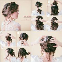 DIY Pretty Loose Braid Bridal Hairstyle