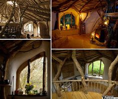 A sustainable home bulit in Wales by one man and his family with the help of passers by and neighbors. Fabulous! A real life Hobbit hole!