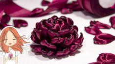 Цветы из атласных лент   Kulikova Anastasia