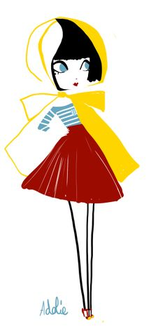 Draw the fashion. My dream outfit of spring. Petit Bateau / Oatmeal Inspiration Source by cindysuen Illustration Story, Beauty Illustration, Character Illustration, Graphic Illustration, Pretty Art, Cute Art, Storyboard, Art Fantaisiste, Doodle Characters