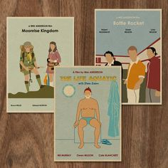 Wes Anderson set of 3 limited edition prints -set 2. $15.00, via Etsy.