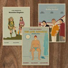 Ensemble de Wes Anderson de 3 tirages à édition par MonsterGallery, $16.00