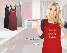 Le Tablier Brodé au Prénom Le Chef, Tank Tops, Women, Fashion, First Mothers Day Gifts, Gifts, Cook, Apron, Moda