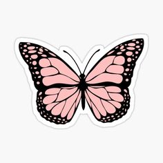 Pink stickers featuring millions of original designs created by independent artists. Stickers Cool, Preppy Stickers, Cute Laptop Stickers, Bubble Stickers, Printable Stickers, Tumblr Sticker, Roses Tumblr, Papillon Violet, Image Deco