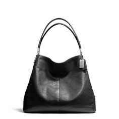 The Madison Small Phoebe Shoulder Bag In Leather from Coach