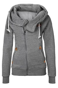 33b2a12ea16 CUPSHE FASHION Women s Autumn Zipper Pullover Hoodie Sweatshirt with Pocket Hooded  Sweatshirts
