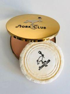 Mint Cond Unused Vintage Stork Club NYC Powder Compact Rachel Vintage Perfume, Stork, Chain Pendants, Compact, Mint, Club, Chains, Powder, Boxes