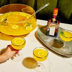 Coupe of Gold Cocktail Recipes For A Crowd, Food For A Crowd, Cointreau Cocktails, Botanist Gin, Sour Cocktail, Legal Drinking Age, Juice Cup, Punch Recipes, Cutaway