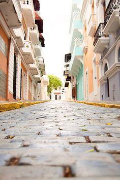 Puerto Rican Street Old San Juan Travel by MalangaStudios on Etsy, $17.00