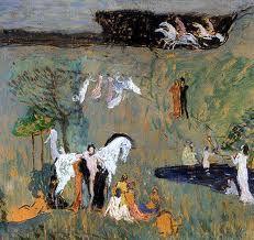 Preisler, Jan - Kompozice s bilym konem Art Nouveau, Paul Gauguin, Figure Painting, Les Oeuvres, Modern Art, Moose Art, Iron, Fine Art, Nature