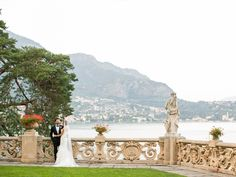 The lakeside terrace at Villa Balbianello - perfect for a wedding photoshoot