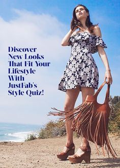 With JustFab Get a Curated Collection of Heels, Boots, Wedges, Flats, Dresses, Bags and More Tailored Just to Your Unique Style.  So Start Discovering Trendy and Stylish products at up to 50% Off that Fit Your Style by Taking our Style Quiz!