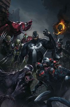 #Venom #Fan #Art. (EDGE OF VENOMVERSE #1 (of 5) Variant Cover) By: Ron Lim. ÅWESOMENESS!!!!™ ÅÅÅ+