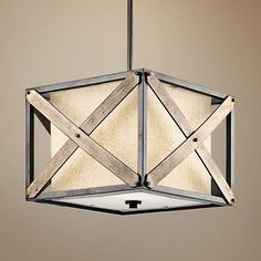 "Kichler Cahoon 16 1/4""W Iron Convertible 1-Light Pendant - #1K004 