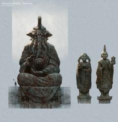 Yag Kosha statue Picture  (2d, fantasy, environment, concept art, age of conan, statues)