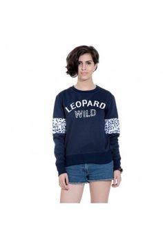 Take your fashion up with this navy blue coloured women's sweatshirt  #womensfashion #womenssweatshirt #wintersweatshirts