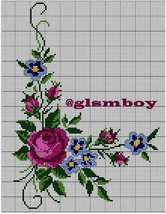 This Pin was discovered by Ayş Butterfly Cross Stitch, Beaded Cross Stitch, Cross Stitch Rose, Cross Stitch Borders, Cross Stitch Flowers, Cross Stitching, Cross Stitch Embroidery, Embroidery Patterns, Hand Embroidery
