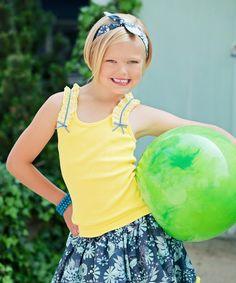 Another great find on #zulily! Yellow Demi Suspender Tank - Toddler & Girls #zulilyfinds