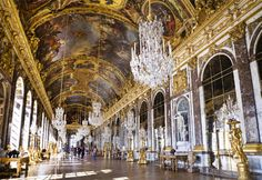 Inside a palace in Versailles, France