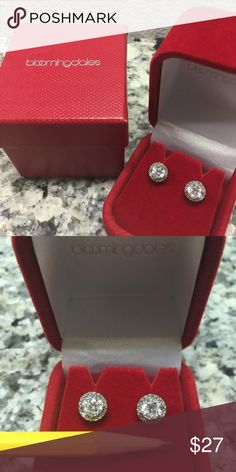 NEW 2016 Christmas Bloomingdales ear studs No tags but never been worn. Accessories