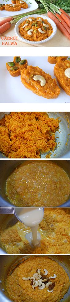 Carrot Halwa is a simple yet super delicious South Indian dessert. It is nothing but carrots cooked in milk and flavored with cardamom. Though it sounds simple, the halwa is super rich and mouthwatering good. Vegans can use a flavorless oil instead of ghee, skip the condensed milk and use a non dairy milk.