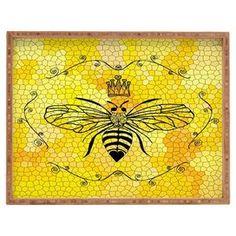 Queen Bee Bamboo Tray
