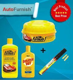 Combo Offer:  Autofurnish Car Shining Combo - Polish, Shampoo, Scratch Pen, Scratch out