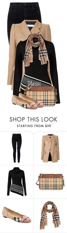 """~ 💕 Plaid Bag & Shoe 💕 ~"" by pretty-fashion-designs ❤ liked on Polyvore featuring J Brand, Tamuna Ingorokva, Venus and Burberry"
