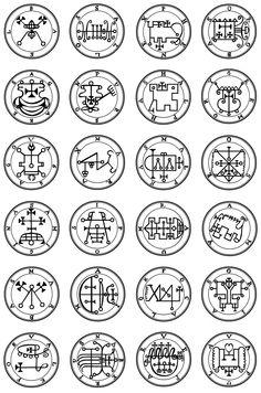 goetia the  72 demon seals