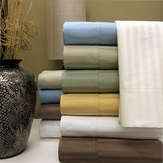 California King Stripe 1000 Thread count 100% Egyptian cotton Sheet sets
