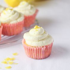 Lemon Cupcakes with Whipped Buttercream